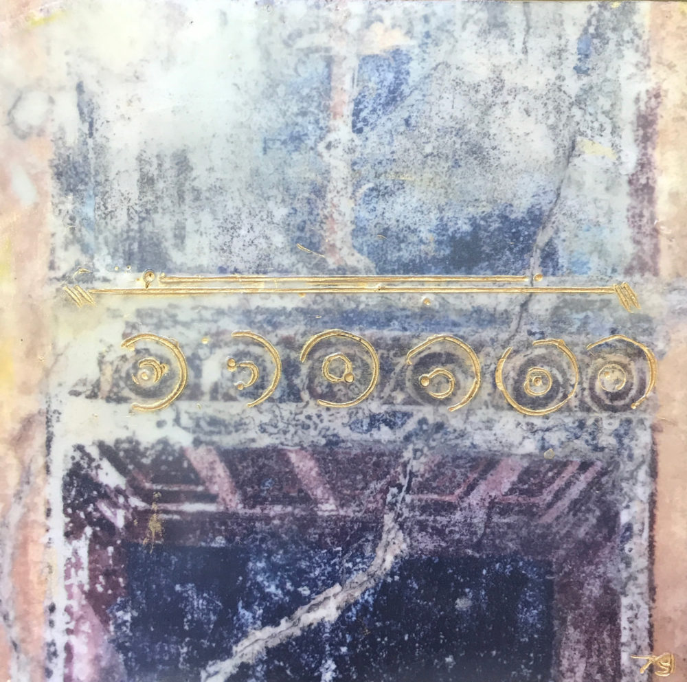 Pompeii XIII - Photo Encaustic Art