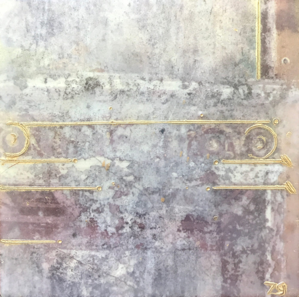 Pompeii XVI - Photo Encaustic Art