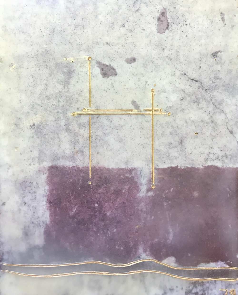 Pompeii XVIII - Photo Encaustic Art