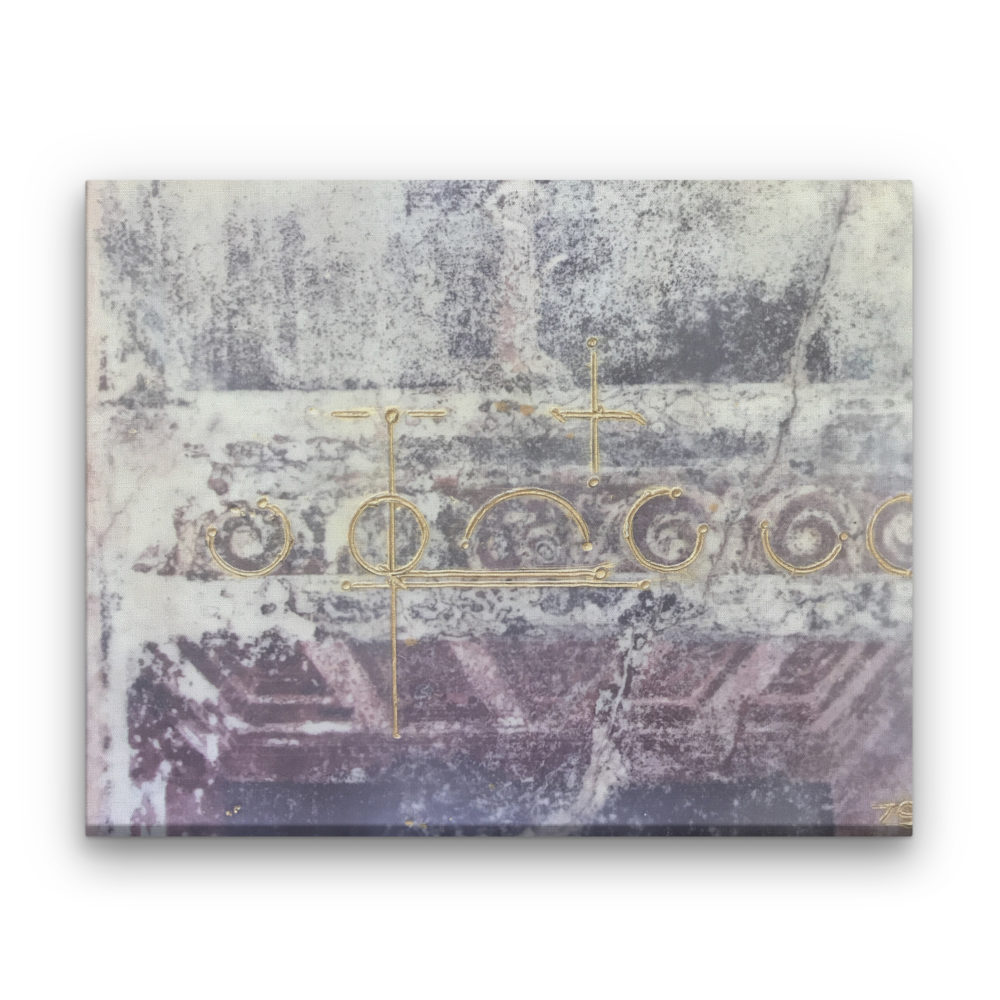 Pompeii XX - Photo Encaustic Art