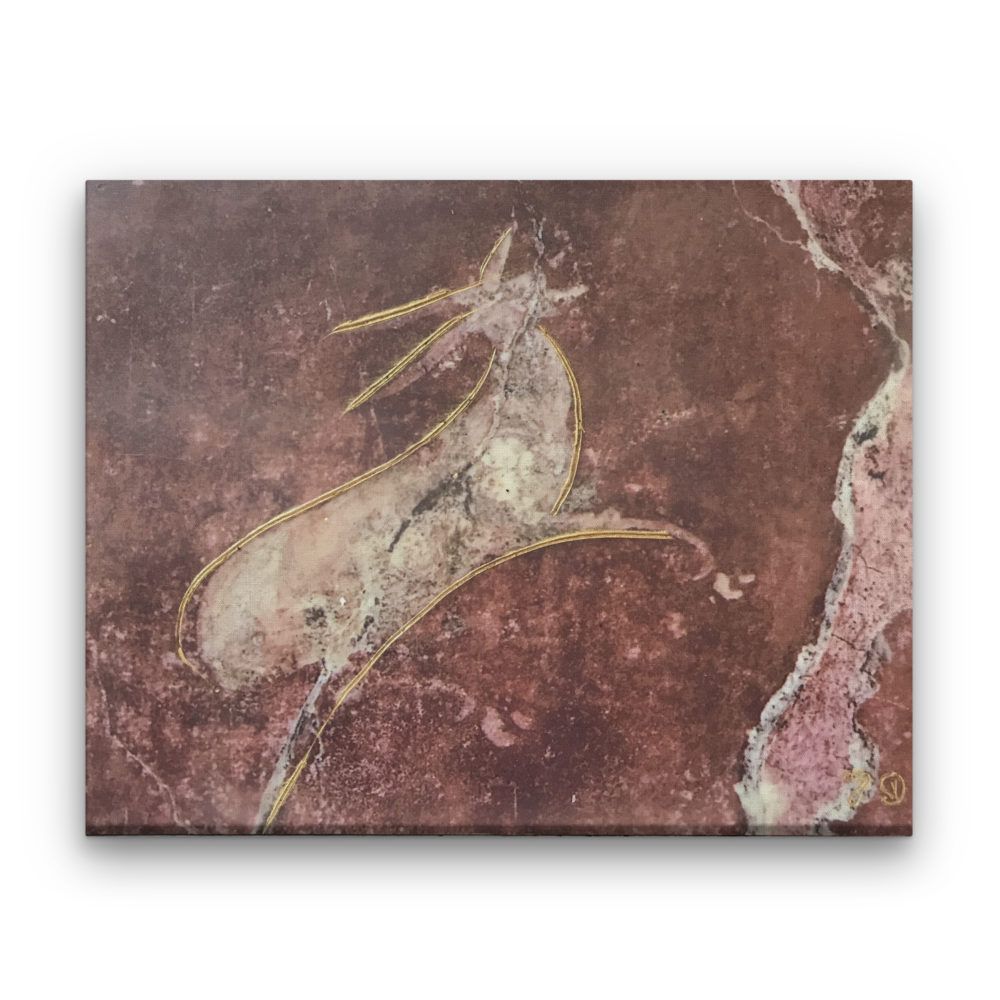 Pompeii IX Photo Encaustic Art Box Lid