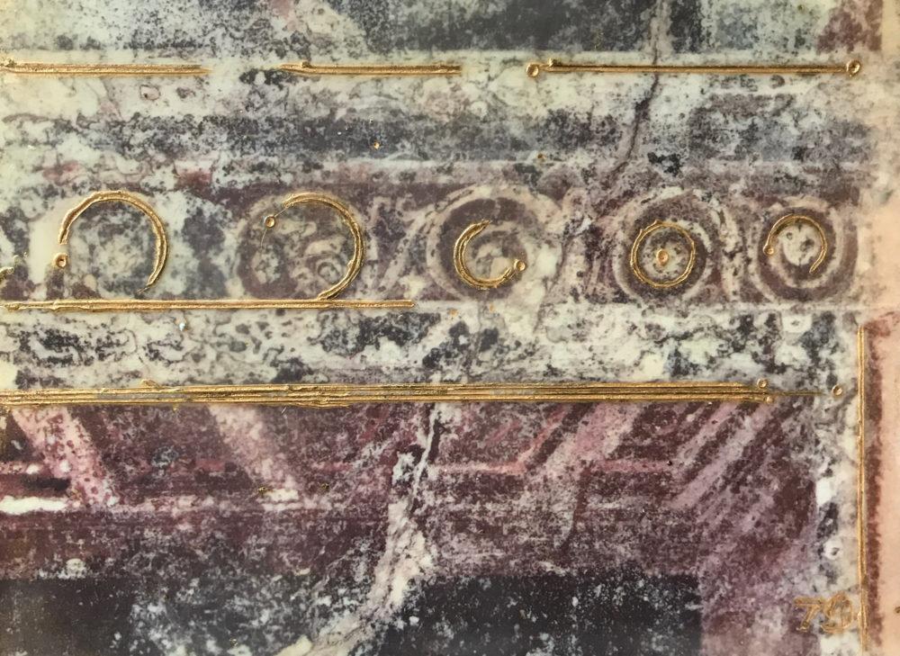 Pompeii VII Photo Encaustic Art