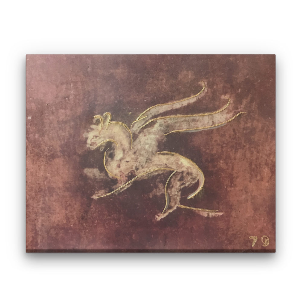 Pompeii VIII Photo Encaustic Art Box Lid