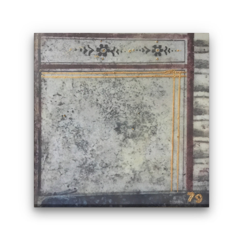 Pompeii XI Photo Encaustic Art Box Lid