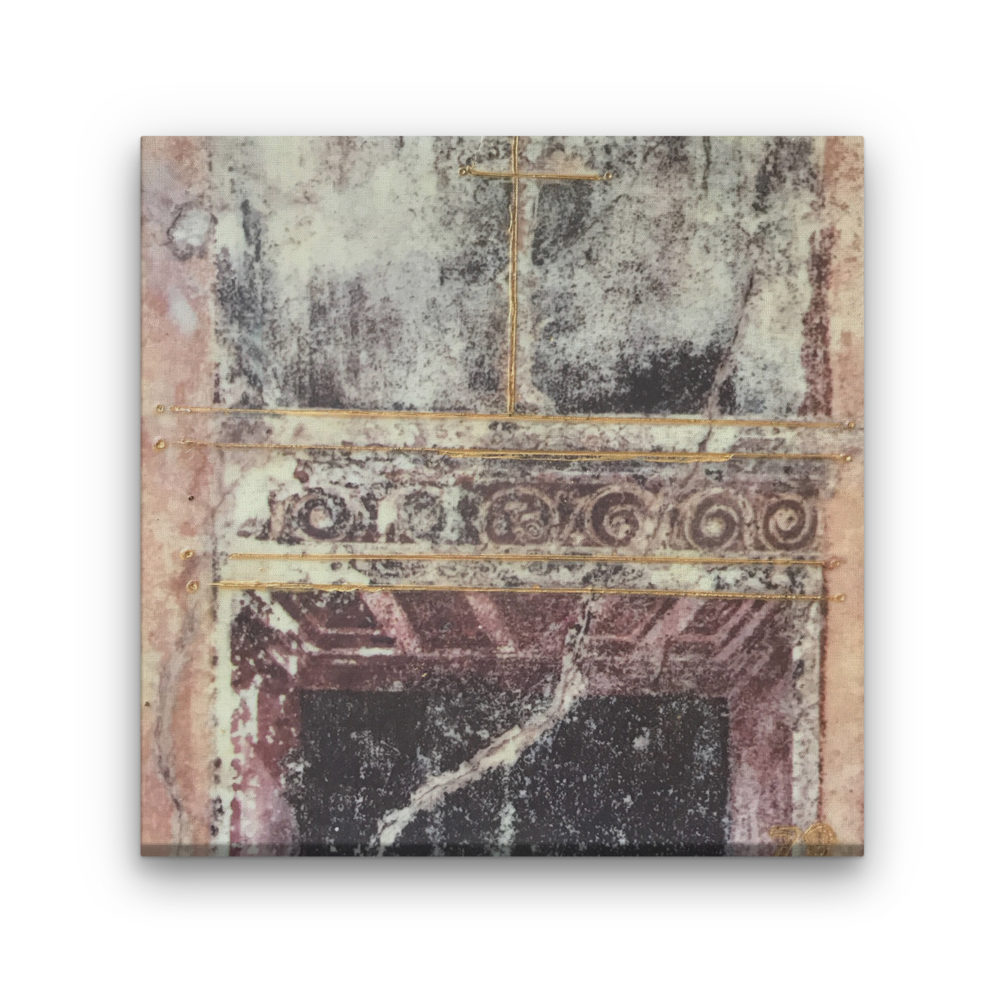 Pompeii X Photo Encaustic Art Box Lid